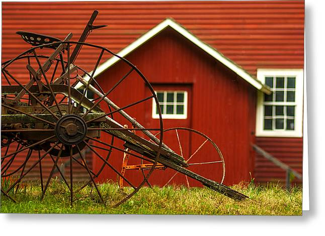 Cattle-shed Greeting Cards - By The Mill House Version 2 Greeting Card by Jack Zulli