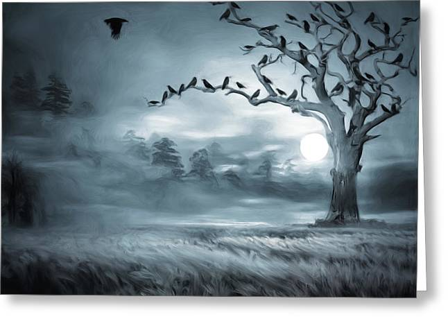 Subconscious Digital Art Greeting Cards - By the Moonlight Greeting Card by Lourry Legarde