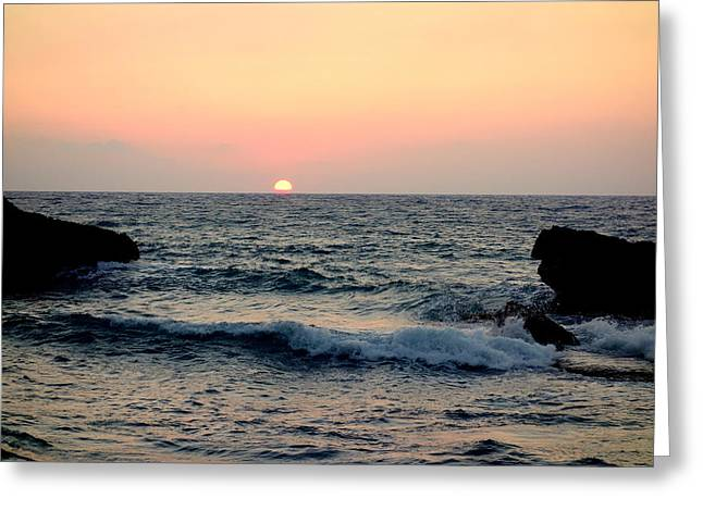 Sweating Photographs Greeting Cards - By The Sea Greeting Card by Hilde Widerberg