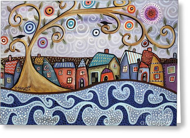 By The Sea Greeting Card by Karla Gerard