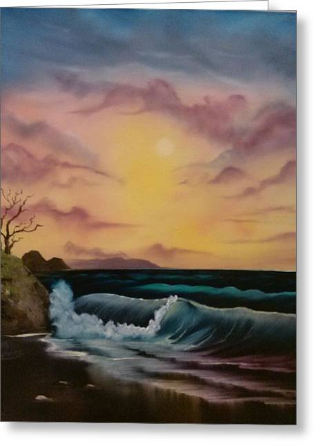 Bob Ross Paintings Greeting Cards - By-The-Sea Greeting Card by Lynn Lawrence