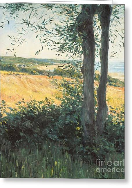 Fresh Air Greeting Cards - By the Sea Normandy  Greeting Card by Gustave Caillebotte