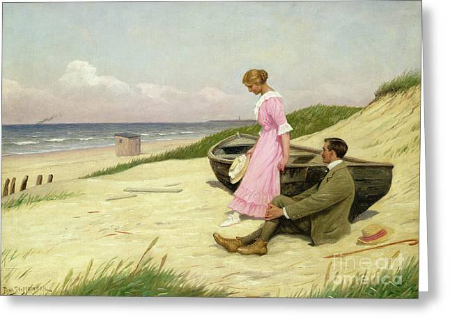 Two By Two Greeting Cards - By The Sea Greeting Card by Povl Steffensen