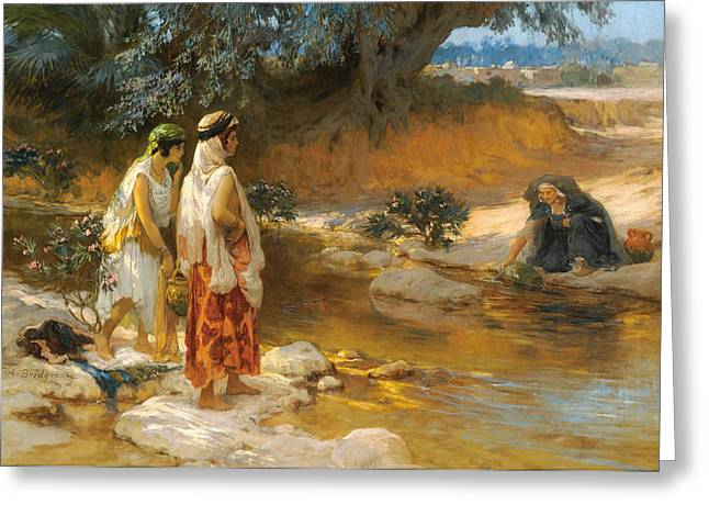 Frederick Greeting Cards - By the Waters Edge Greeting Card by Frederick Arthur Bridgman