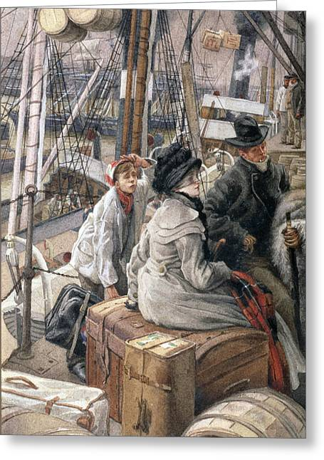 By Water Greeting Card by James Jacques Joseph Tissot