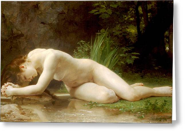 Byblis Greeting Card by William-Adolphe Bouguereau