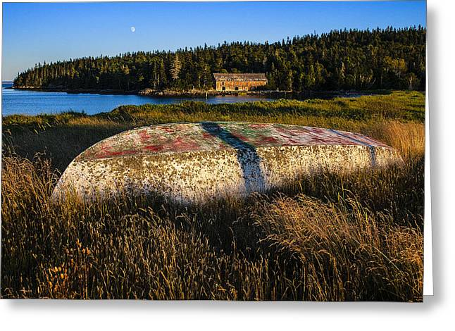 Maine Photographs Greeting Cards - Bygone Era Smokehouse Greeting Card by Marty Saccone