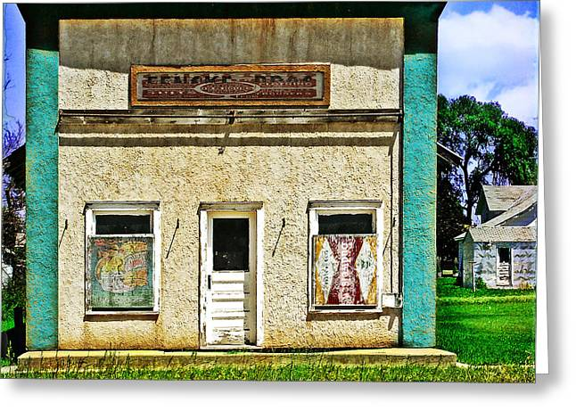 Old Roadway Greeting Cards - Bypassed Greeting Card by John Anderson