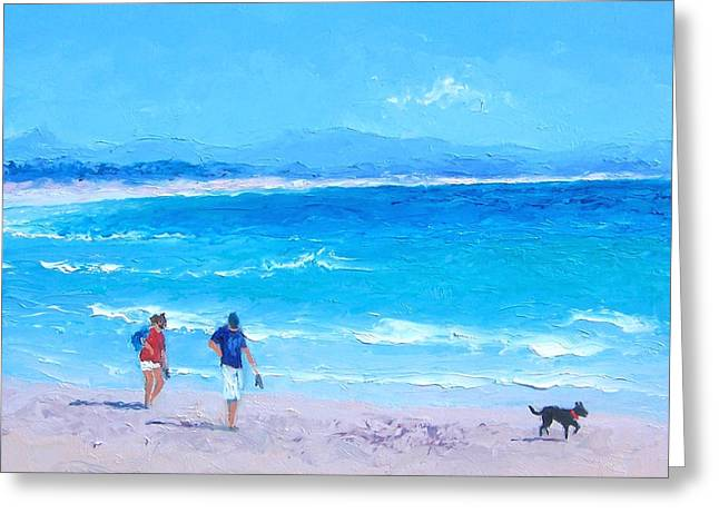 Sea Dog Prints Greeting Cards - Byron Bay Greeting Card by Jan Matson