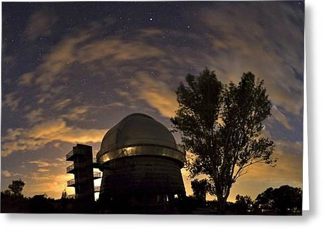Dome Light Greeting Cards - Byurakan Observatory, Armenia Greeting Card by Babak Tafreshi, Twan