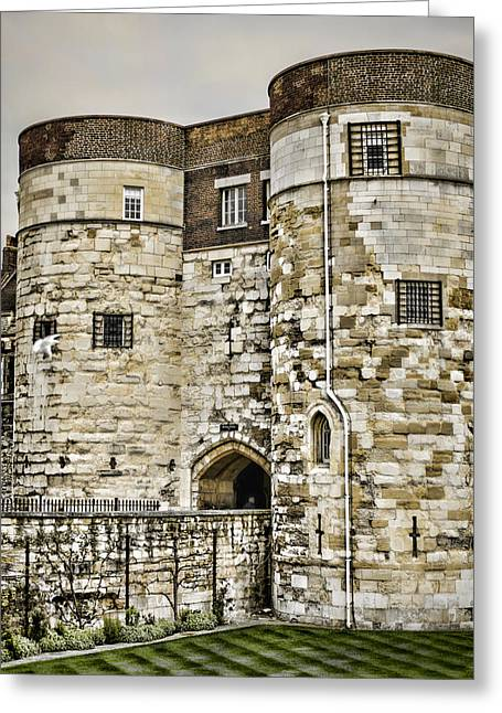 British Royalty Greeting Cards - Byward Tower Greeting Card by Heather Applegate