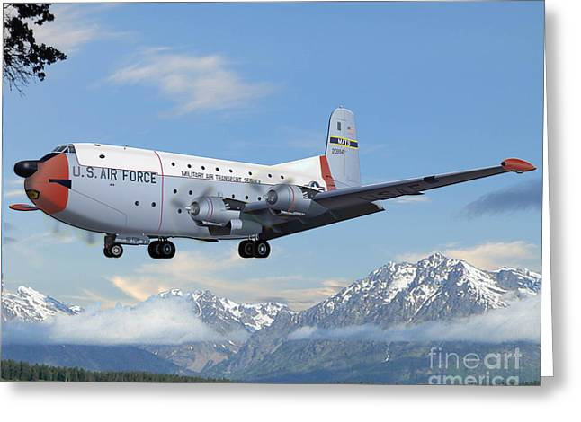 Usaf Mixed Media Greeting Cards - C-124  Greeting Card by Michael Lovell