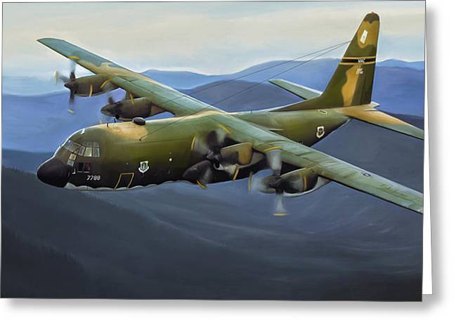 C-130 Greeting Cards - C-130E Hercules Greeting Card by Dale Jackson