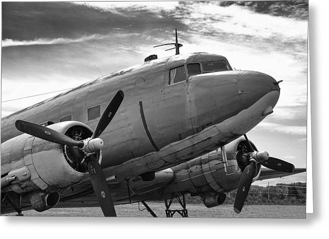 Guy Whiteley Greeting Cards - C-47 Skytrain Greeting Card by Guy Whiteley