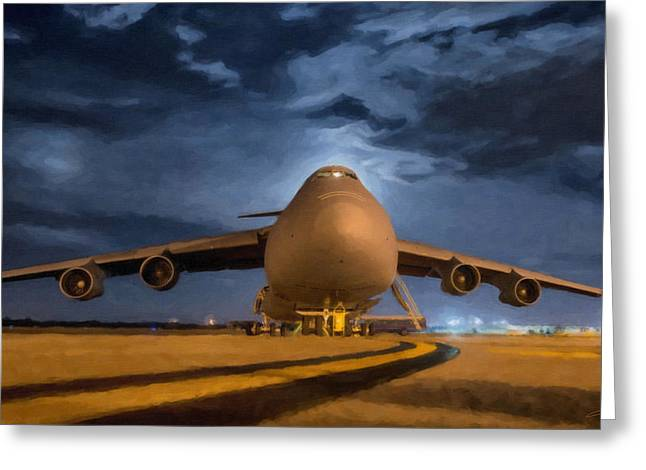 Carrier Greeting Cards - C-5 Galaxy Greeting Card by Dale Jackson