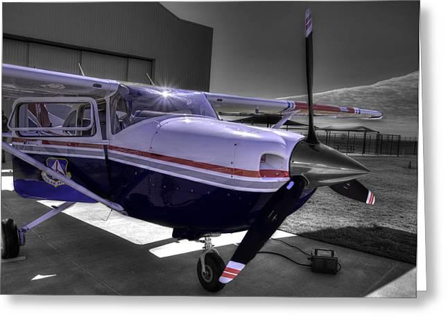 Stellenbosch Photographs Greeting Cards - C A P Cessna 182 Skylane G1000 fsx v2 Greeting Card by John Straton