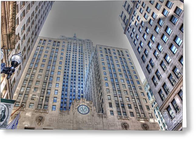 Lasalle Street Greeting Cards - C B O T - H D R Greeting Card by David Bearden