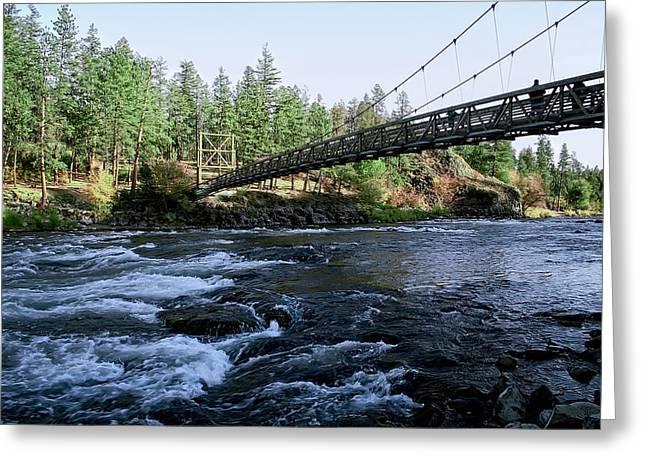 Spokane Greeting Cards - C C C Bridge - RIVERSIDE STATE PARK - SPOKANE WASHINGTON Greeting Card by Daniel Hagerman