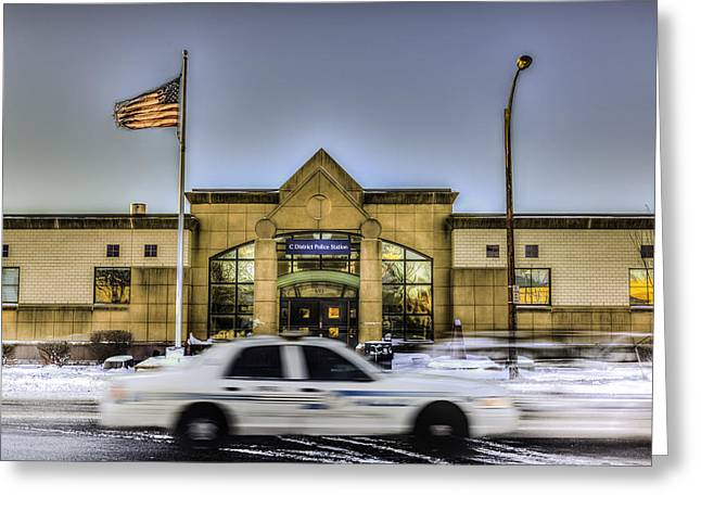 Police District Greeting Cards - C District Greeting Card by John Lattanzio