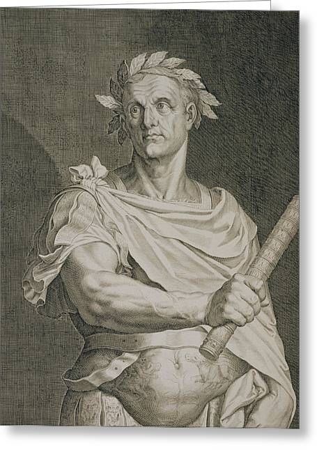 Orator Greeting Cards - C. Julius Caesar Emperor Of Rome Greeting Card by Titian