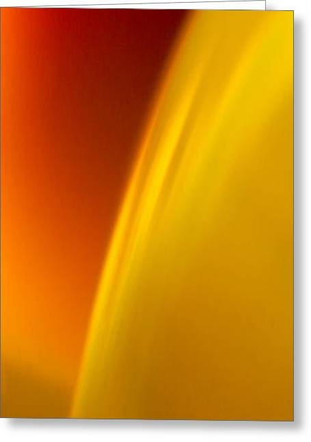 Abstract Rain Greeting Cards - C Ribet Orbscape 8994VC Greeting Card by C Ribet