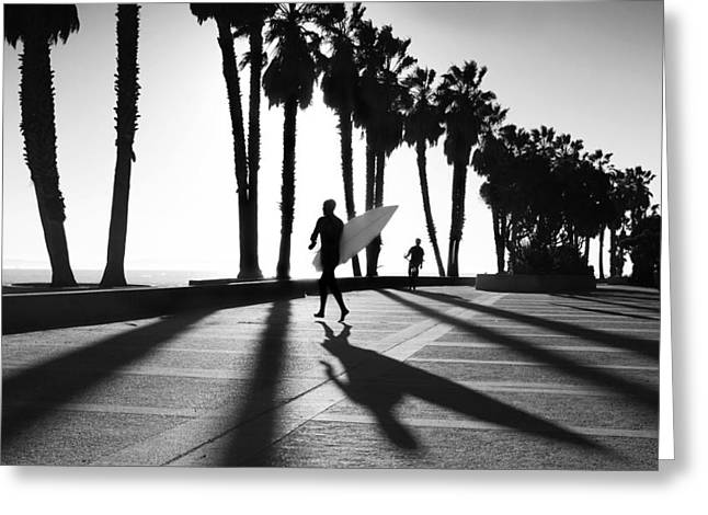 California Art Photographs Greeting Cards - C Street Shadowland Greeting Card by Sean Davey