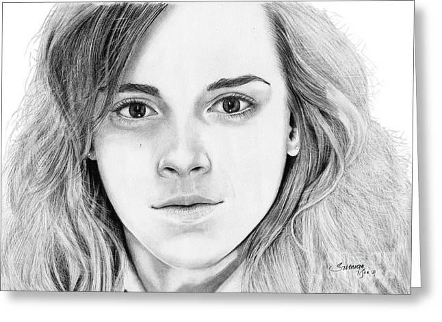 Hermione Granger Greeting Cards - Hermione Granger Greeting Card by Suranga Basnagala