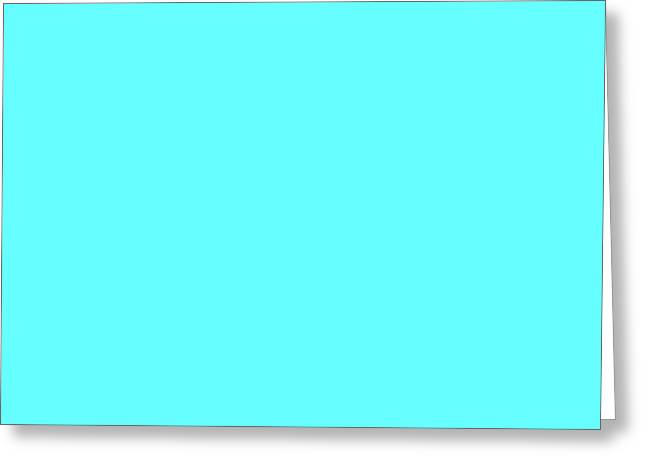 Turquoise Greeting Cards - C.1.102-255-255.4x3 Greeting Card by Gareth Lewis