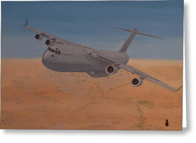 Baghdad Greeting Cards - C17 Out of Baghdad Greeting Card by Jonathan Laverick