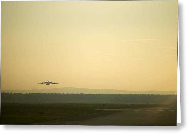 Steadfast Greeting Cards - C17 Special Delivery Greeting Card by Senior Airman Damon Kasberg