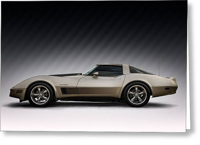 Classic Digital Greeting Cards - C3 Stingray Greeting Card by Douglas Pittman