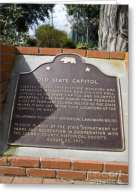 Ca-153 Old State Capitol Greeting Card by Jason O Watson