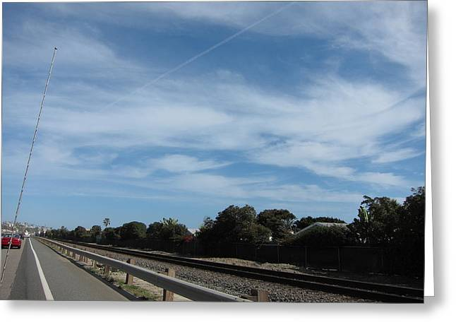 Skies Greeting Cards - CA Beach - 121213 Greeting Card by DC Photographer