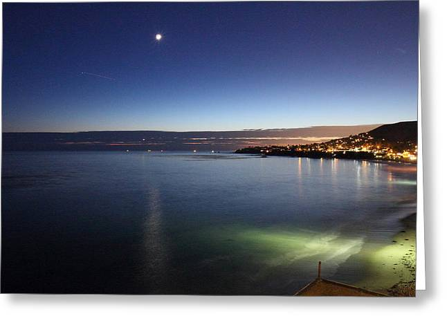 Blue Photographs Greeting Cards - CA Beach - 121262 Greeting Card by DC Photographer