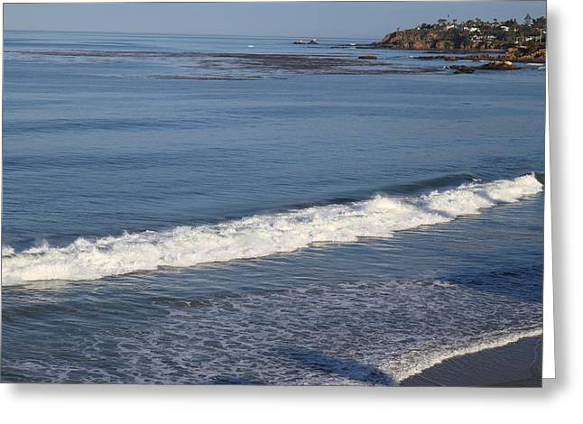 Waves Greeting Cards - CA Beach - 121278 Greeting Card by DC Photographer