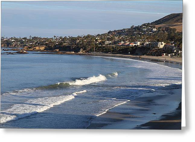 Waving Photographs Greeting Cards - CA Beach - 121291 Greeting Card by DC Photographer