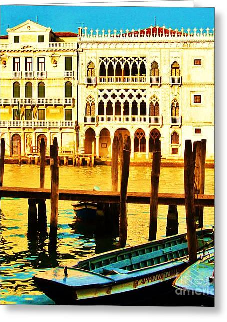 Italian Masons Greeting Cards - Ca Doro- The House of Gold Greeting Card by C  Lythgo