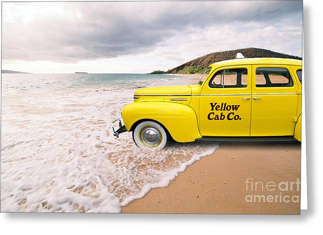 Best Sellers -  - York Beach Greeting Cards - Cab Fare to Maui Greeting Card by Edward Fielding