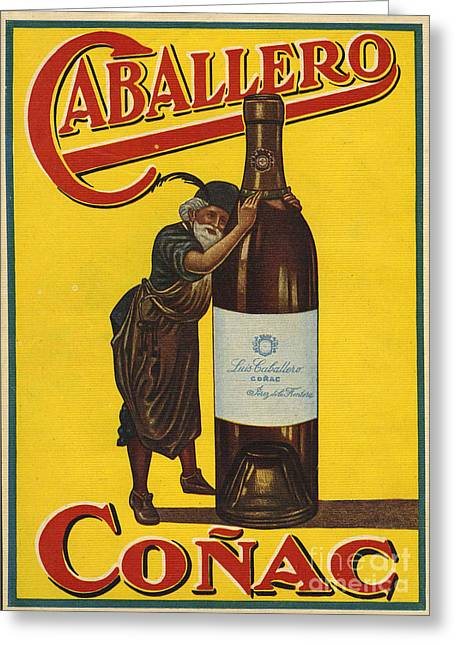 Vintage Greeting Cards - Caballero  1935  1930s Spain Cc Brandy Greeting Card by The Advertising Archives
