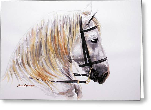 Horse Art Pastels Greeting Cards - Caballus Greeting Card by Jose Espinoza
