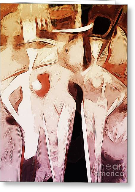 Cabaret Greeting Cards - Cabaret Graphic Greeting Card by Lutz Baar