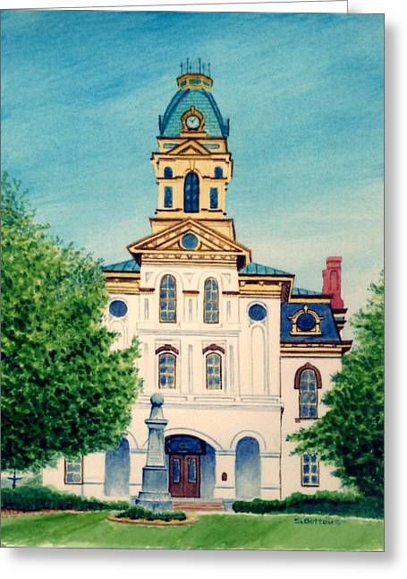 Best Sellers -  - Concord Greeting Cards - Cabarrus County Courthouse Greeting Card by Stacy C Bottoms