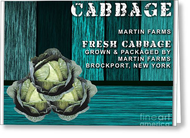 Vegetables Greeting Cards - Cabbage Farm Greeting Card by Marvin Blaine