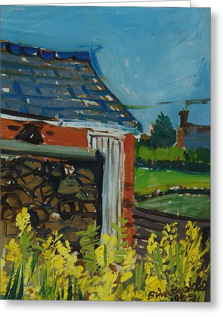 Informal Greeting Cards - Cabbage Flowers In The Garden, 1983 Oil On Canvas Greeting Card by Brenda Brin Booker