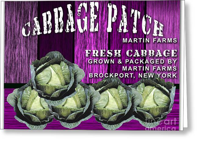 Vegetable Greeting Cards - Cabbage Patch Farm Greeting Card by Marvin Blaine