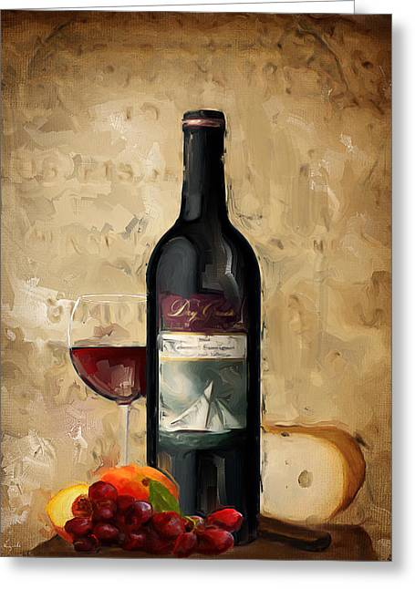 Pinot Paintings Greeting Cards - Cabernet IV Greeting Card by Lourry Legarde
