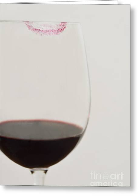 Red Wine Prints Greeting Cards - Cabernet Love Greeting Card by Birgit Tyrrell