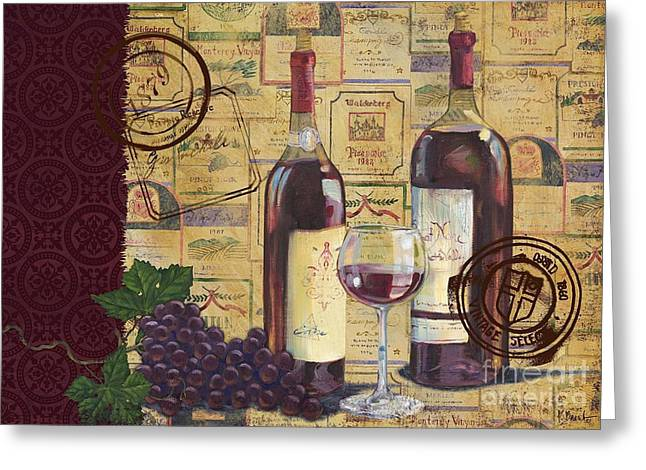 Cabernet Sauvignon Greeting Cards - Cabernet Valley Greeting Card by Paul Brent