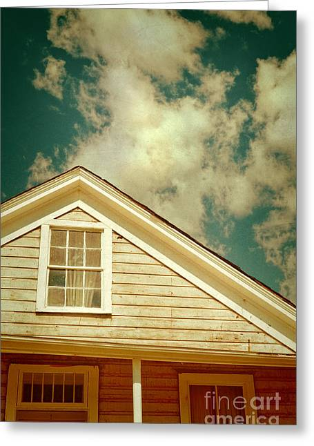 Old Cabins Greeting Cards - Cabin and Clouds Greeting Card by Jill Battaglia