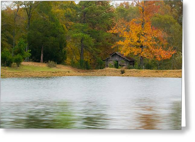 Beautiful Scenery Greeting Cards - Cabin By the Lake Greeting Card by Shelby  Young